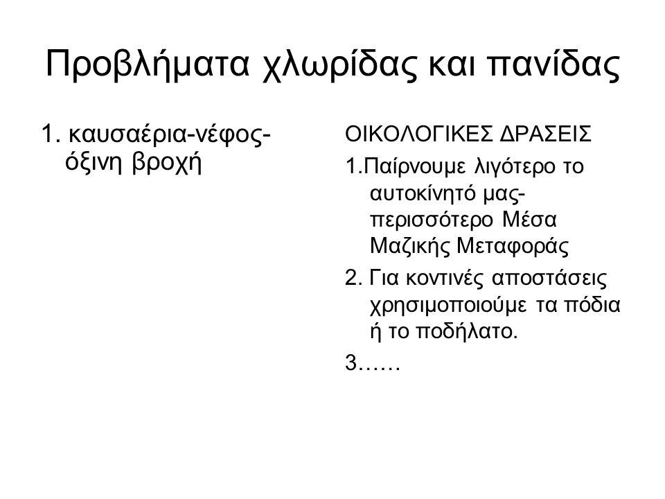 Προβλήματα χλωρίδας και πανίδας 1.