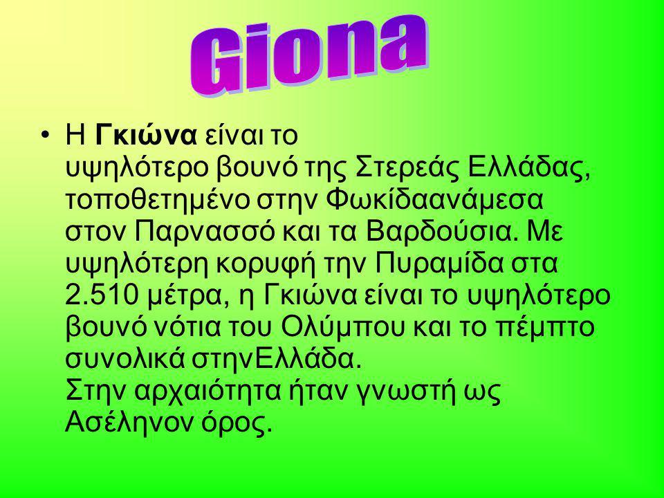 Η Γκιώνα είναι το υψηλότερο βουνό της Στερεάς Ελλάδας, τοποθετημένο στην Φωκίδαανάμεσα στον Παρνασσό και τα Βαρδούσια.