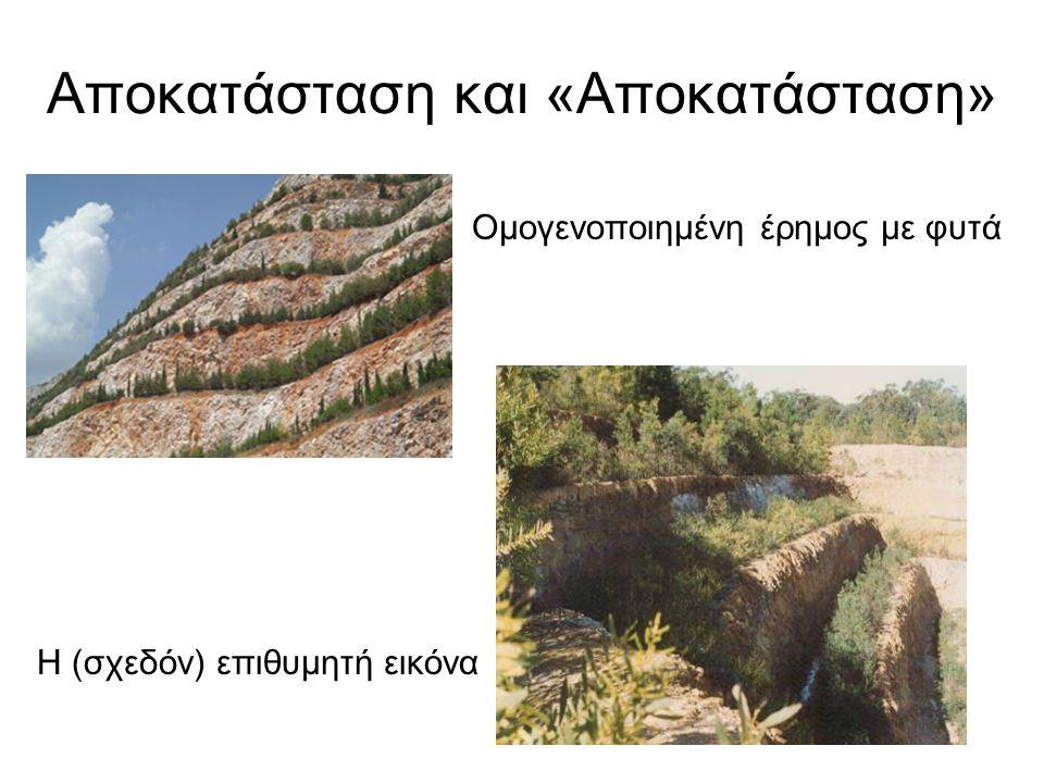 Αποκατάσταση και «Αποκατάσταση» Ομογενοποιημένη έρημος με φυτά Η (σχεδόν) επιθυμητή εικόνα