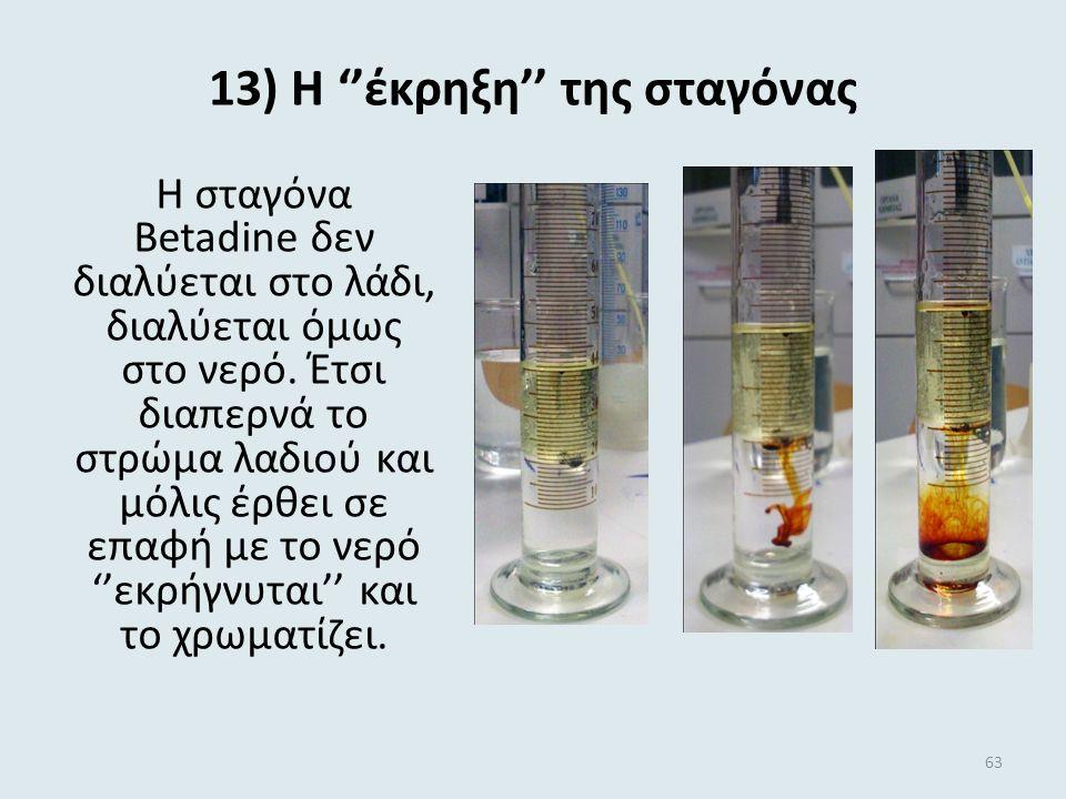 12) Πως …το διώχνουν το πιπέρι Το πιπέρι (ελαφρύ και αδιάλυτο στο νερό) επιπλέει στο νερό, λόγω της επιφανειακής τάσης. Με την προσθήκη του απορρυπαντ