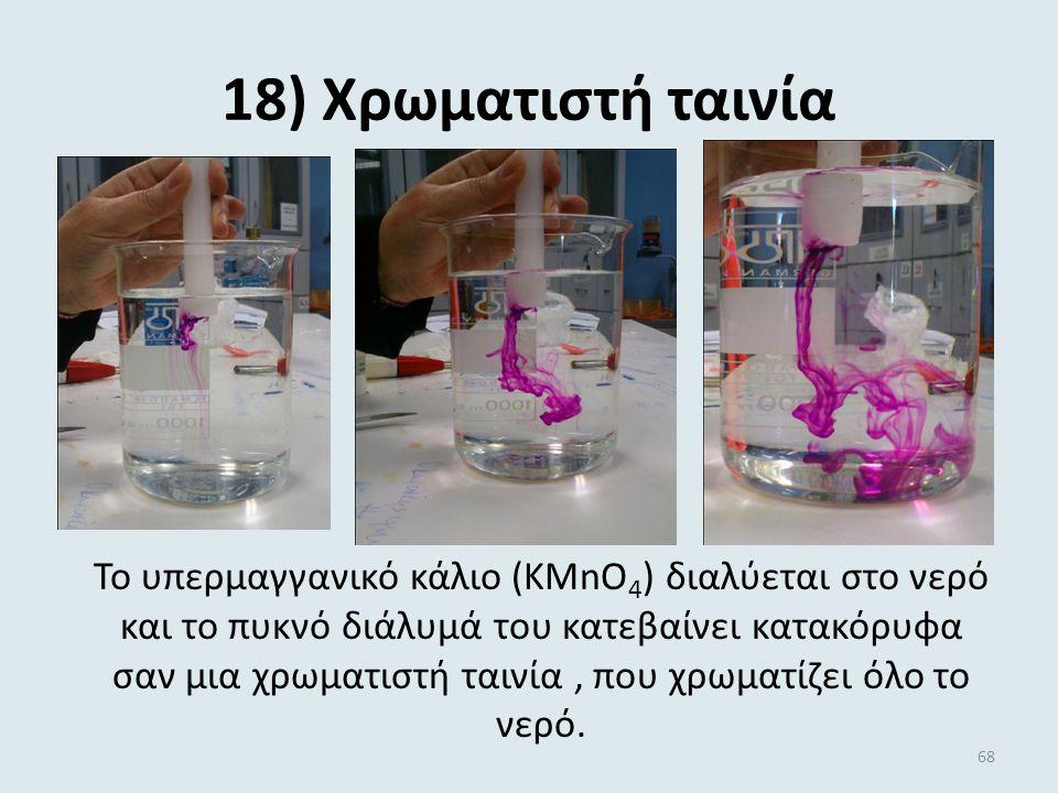 17) Το κερί που ανάβει … μόνο του! Εδώ έχουμε έντονα εξώθερμες αντιδράσεις που οδηγούν σε μια έκρηξη! Η ζάχαρη αφυδατώνεται από το π. H 2 SO 4 και ελε