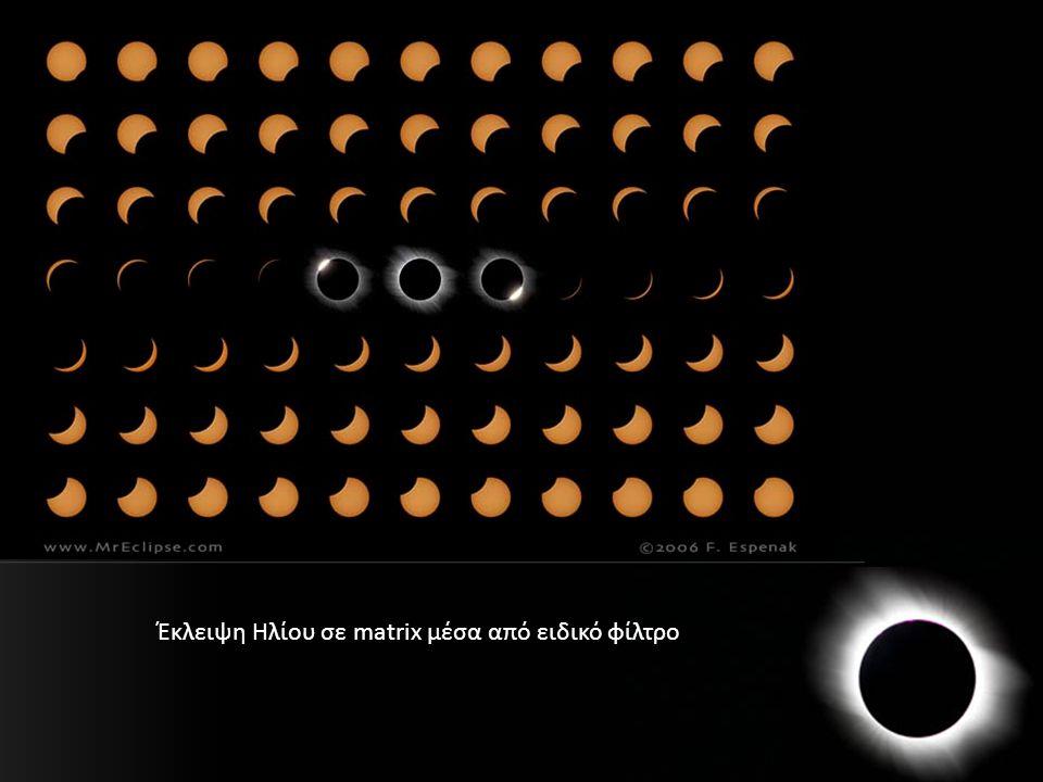 Έκλειψη Ηλίου σε matrix μέσα από ειδικό φίλτρο