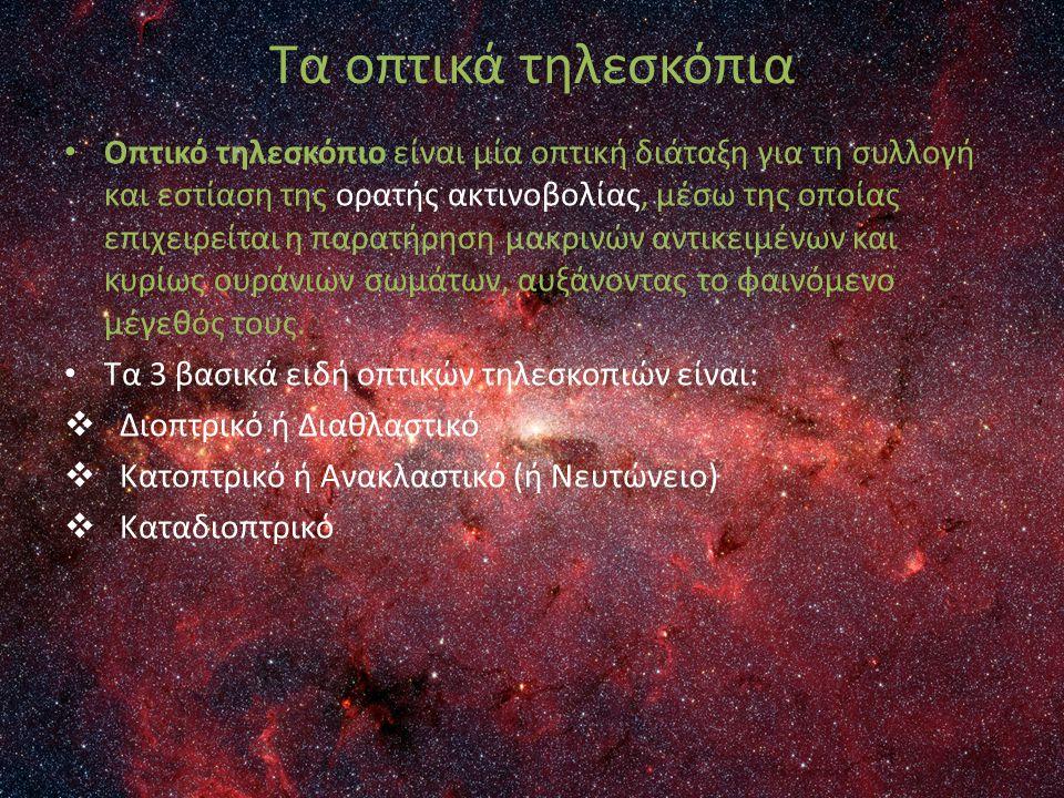 Οπτικό τηλεσκόπιο είναι μία οπτική διάταξη για τη συλλογή και εστίαση της ορατής ακτινοβολίας, μέσω της οποίας επιχειρείται η παρατήρηση μακρινών αντι