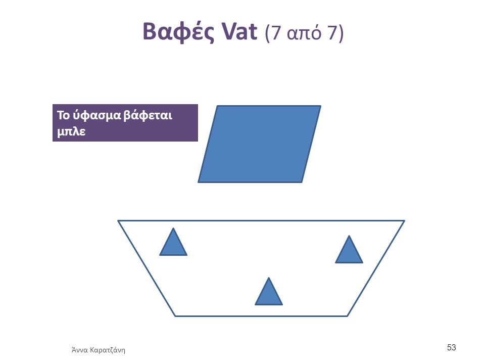Βαφές Vat (7 από 7) Το ύφασμα βάφεται μπλε Άννα Καρατζάνη 53
