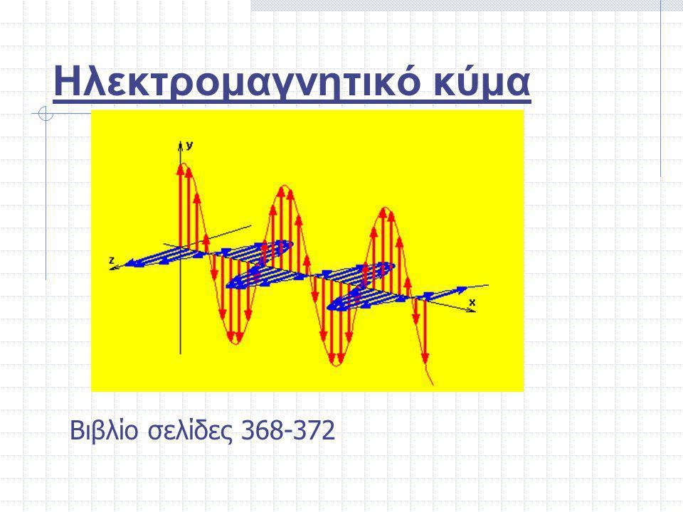 Ηλεκτρομαγνητικό κύμα Βιβλίο σελίδες 368-372