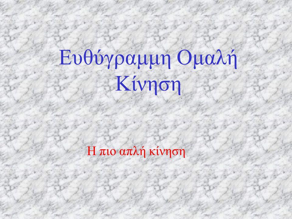 xoxo 0 tx ΔxΔx ΔtΔt φ Η ταχύτητα, δηλαδή, είναι η κλίση της «καμπύλης».