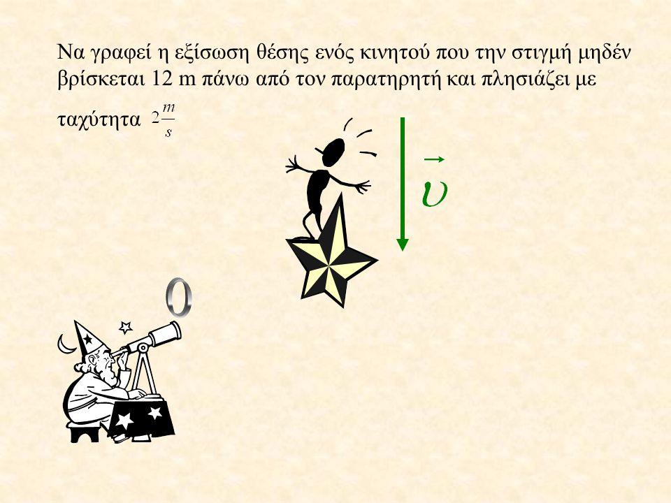Επομένως : x = 2 + t ( S.I )