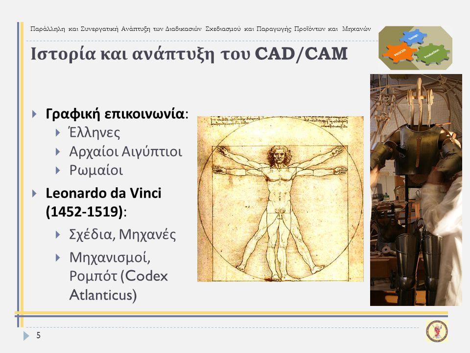 Παράλληλη και Συνεργατική Ανάπτυξη των Διαδικασιών Σχεδιασμού και Παραγωγής Προϊόντων και Μηχανών 5  Γραφική επικοινωνία :  Έλληνες  Αρχαίοι Αιγύπτ