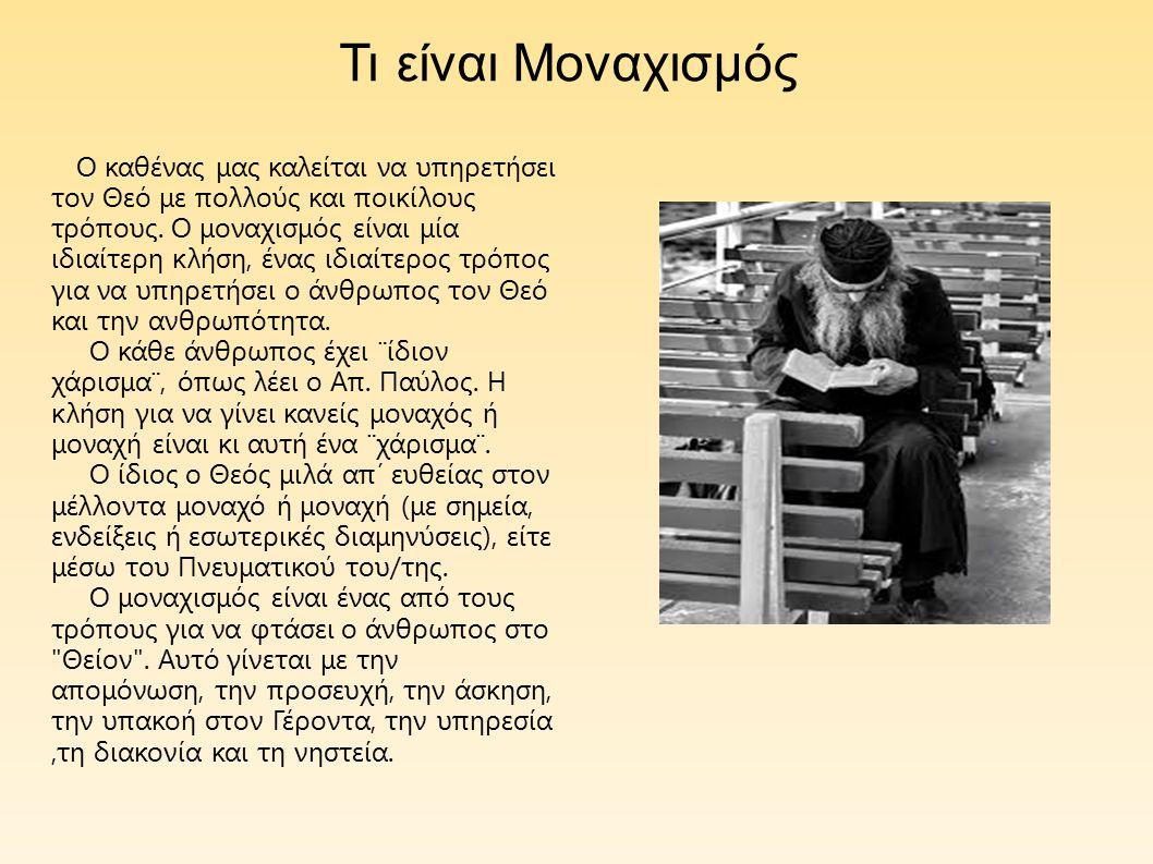 Κατά τον 4ο αιώνα, κάποιοι από τους χριστιανούς της ρωμαϊκής επικρατείας επέλεξαν να ζήσουν μόνοι μακριά από τους συμπολίτες και συγχωριανούς τους, με σκοπό να λατρεύουν μόνοι τον Θεό.