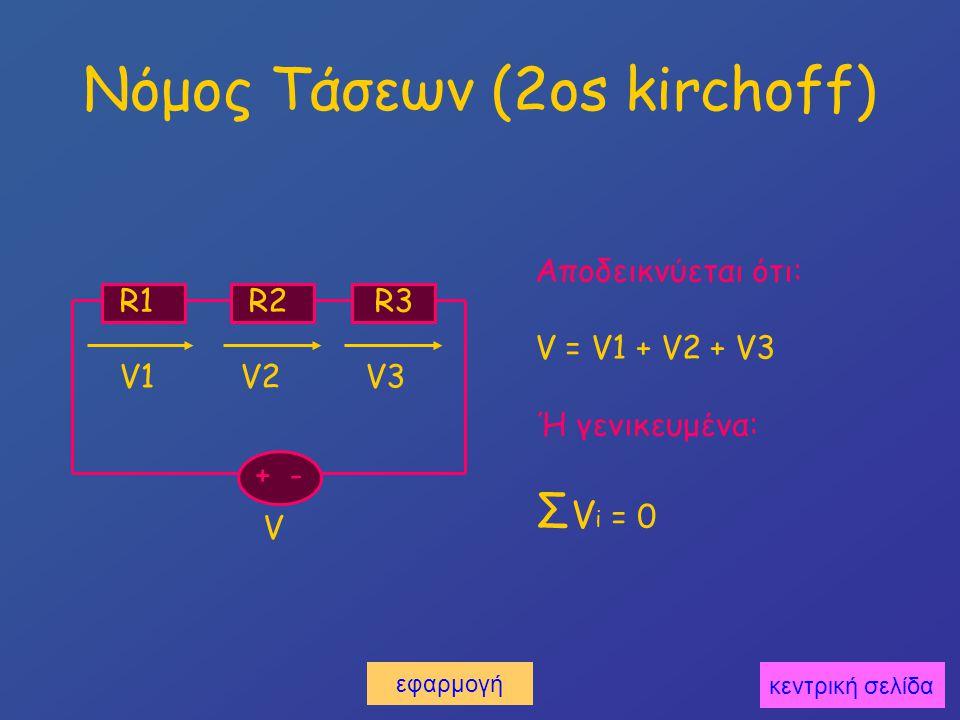 Εφαρμογή στον 2o kirchoff Υπολογίστε την άγνωστη αντίσταση.