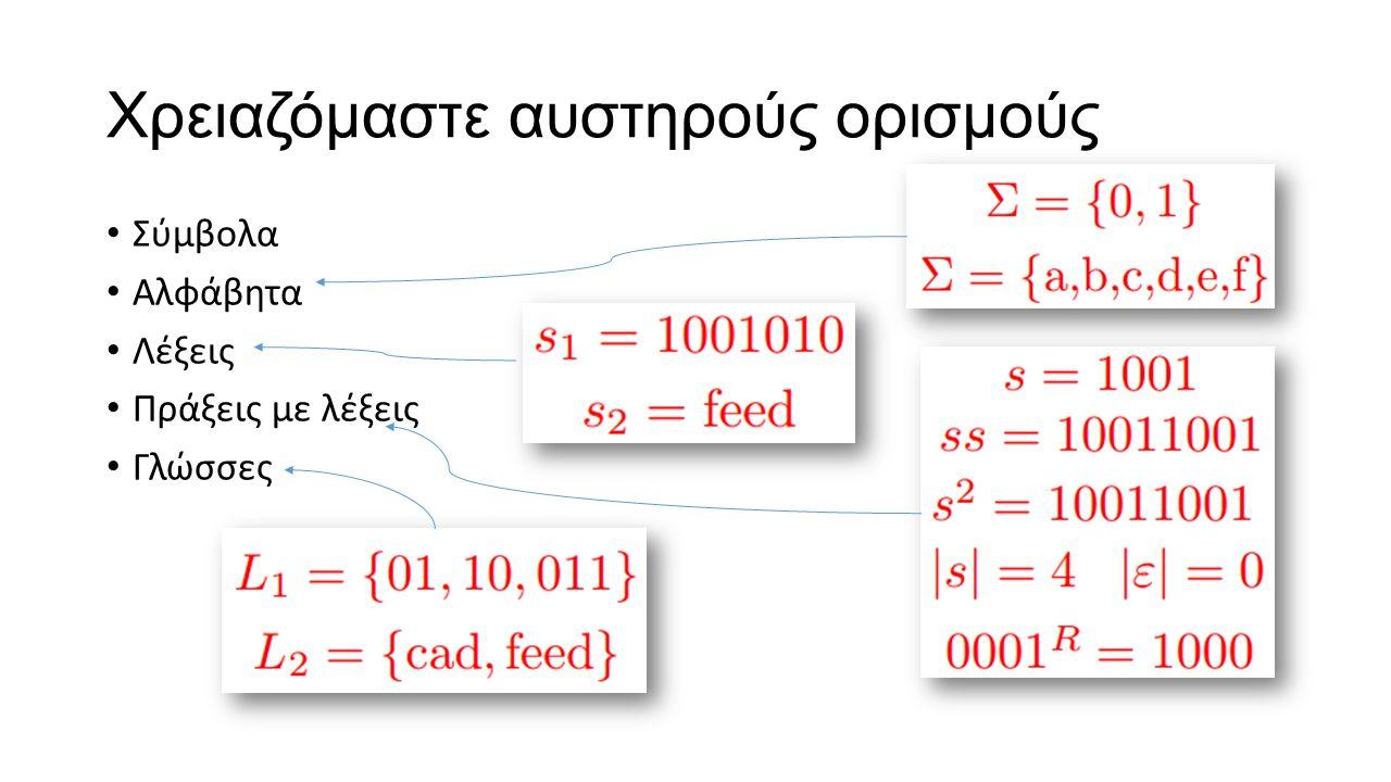 Χρειαζόμαστε Αφαίρεση Αφαίρεση (abstraction): η διάκριση μεταξύ των εξωτερικών ιδιοτήτων μιας οντότητας και των λεπτομερειών της εσωτερικής της σύνθεσ
