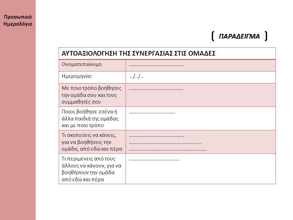 ΚΗ ΠΡΟΪΟΝΤΑ (Τα Φύλλα ή Χαρτόνια Εργασίας που περιμέναμε από τις ομάδες) ΣΧΟΛΙΑ (1) (2) (3) (4) (5) (6) (7) (8) (12) ΔΟΜΗ ΚΑΙ ΟΡΓΑΝΩΣΗ ΤΗΣ ΕΡΕΥΝΗΤΙΚΗΣ ΕΡΓΑΣΙΑΣ ΣΧΟΛΙΑ (9) (10) (11) Κριτήρια Αξιολόγησης