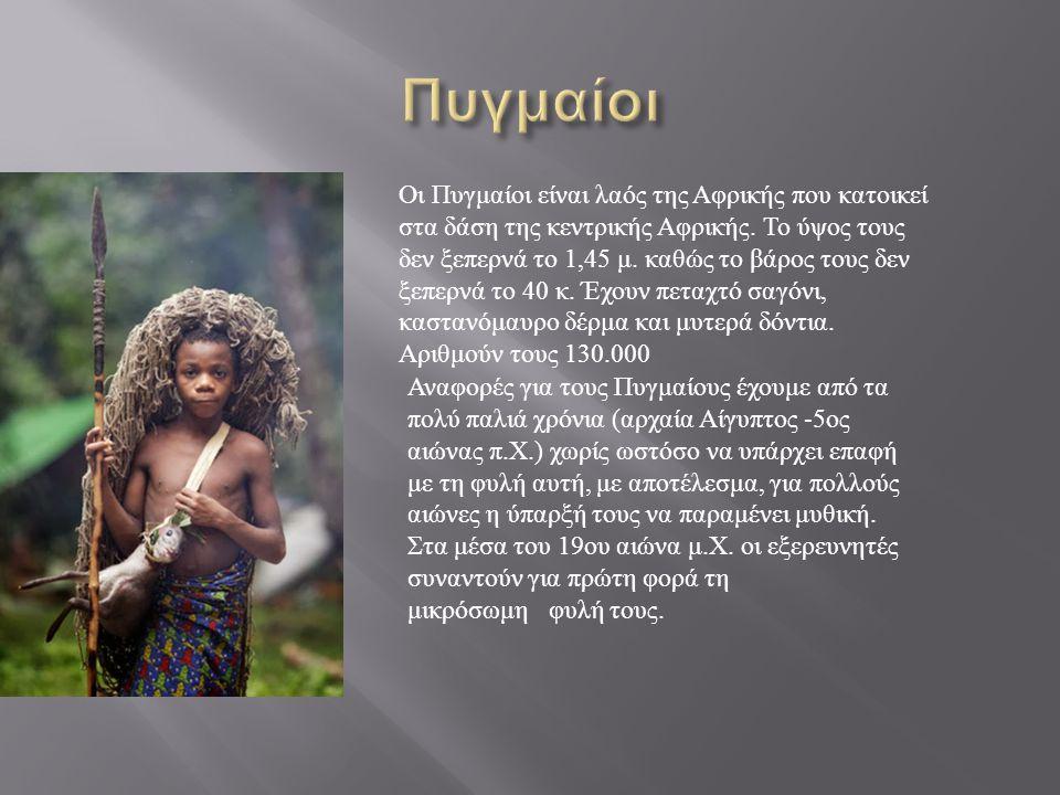 Οι Πυγμαίοι είναι λαός της Αφρικής που κατοικεί στα δάση της κεντρικής Αφρικής.