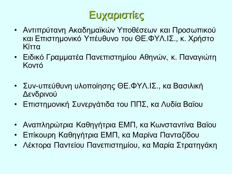 Η θέση των γυναικών μελών ΔΕΠ στα Ελληνικά Α.Ε.Ι.Οι γυναίκες μέλη ΔΕΠ 1.