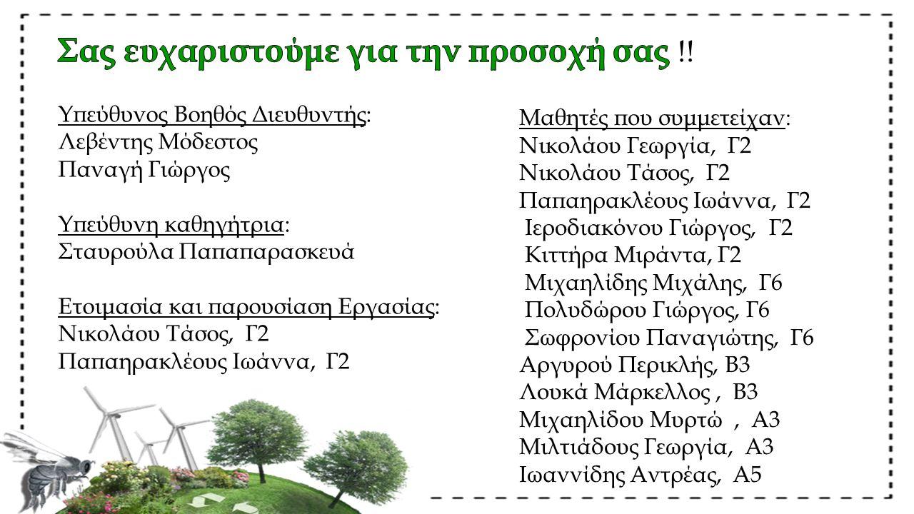 Μαθητές που συμμετείχαν: Νικολάου Γεωργία, Γ2 Νικολάου Τάσος, Γ2 Παπαηρακλέους Ιωάννα, Γ2 Ιεροδιακόνου Γιώργος, Γ2 Κιττήρα Μιράντα, Γ2 Μιχαηλίδης Μιχά