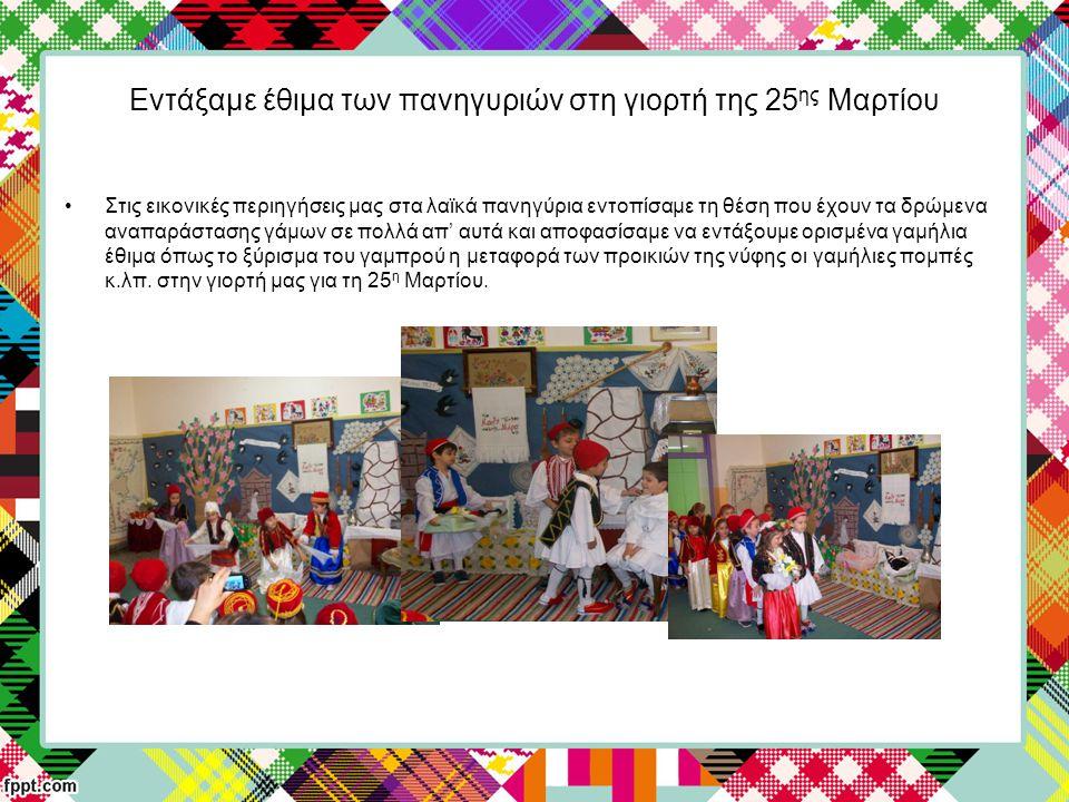 Εντάξαμε έθιμα των πανηγυριών στη γιορτή της 25 ης Μαρτίου Στις εικονικές περιηγήσεις μας στα λαϊκά πανηγύρια εντοπίσαμε τη θέση που έχουν τα δρώμενα