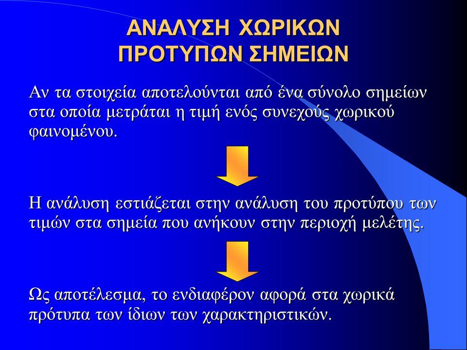 ΧΩΡΙΚΗ ΠΑΡΕΜΒΟΛΗ KRIGING: ΣΥΝΗΘΗΣ KRIGING Μετά από μετασχηματισμούς η εξίσωση γίνεται: Από τους τρεις όρους:  Ο πρώτος είναι η διασπορά της τυχαίας συνάρτησης, δηλαδή C 0.
