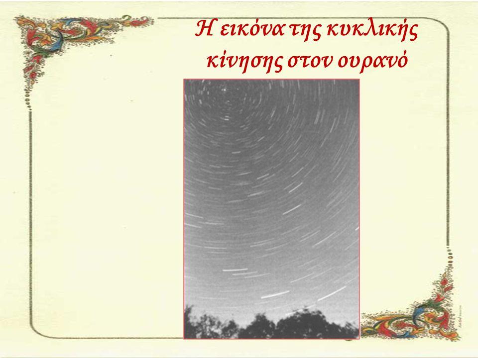 Η εικόνα της κυκλικής κίνησης στον ουρανό
