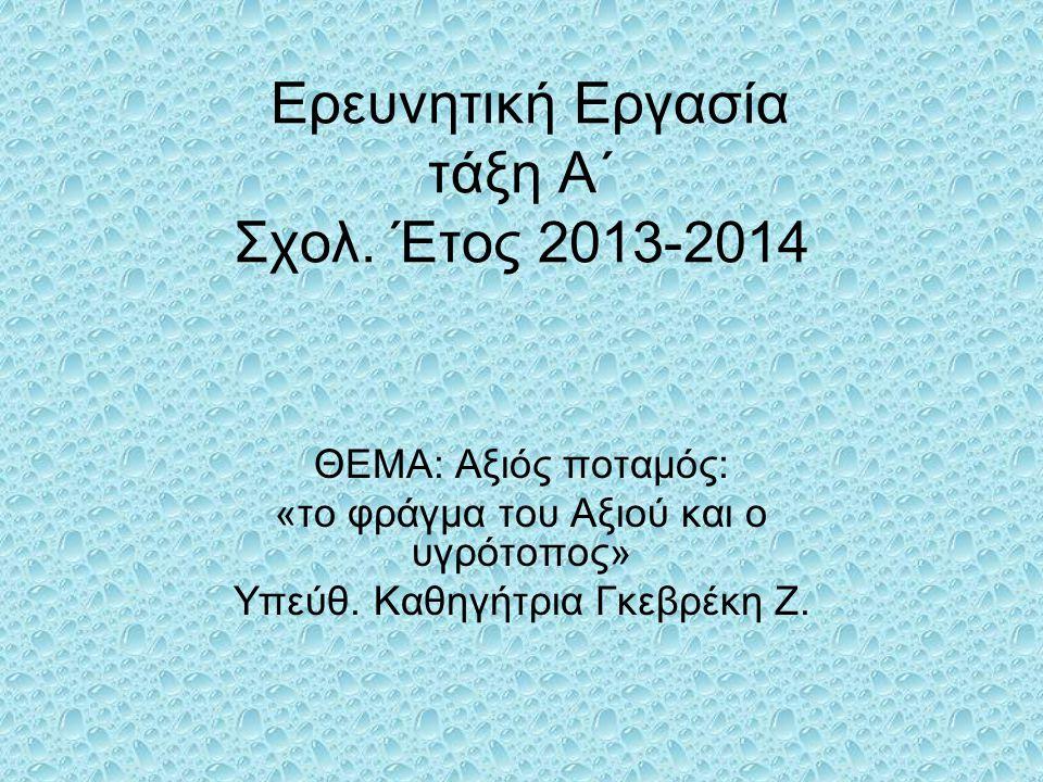 Tο φράγμα της Έλλης κατασκεάστηκε τη δεκαετία του 1960 για να εξυπηρετήσει τις ανάγκες για άρδευσης της πεδιάδας της Θεσσαλονίκης.