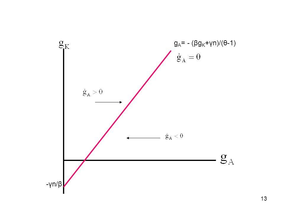 13 g A = - (βg K +γn)/(θ-1) -γn/β