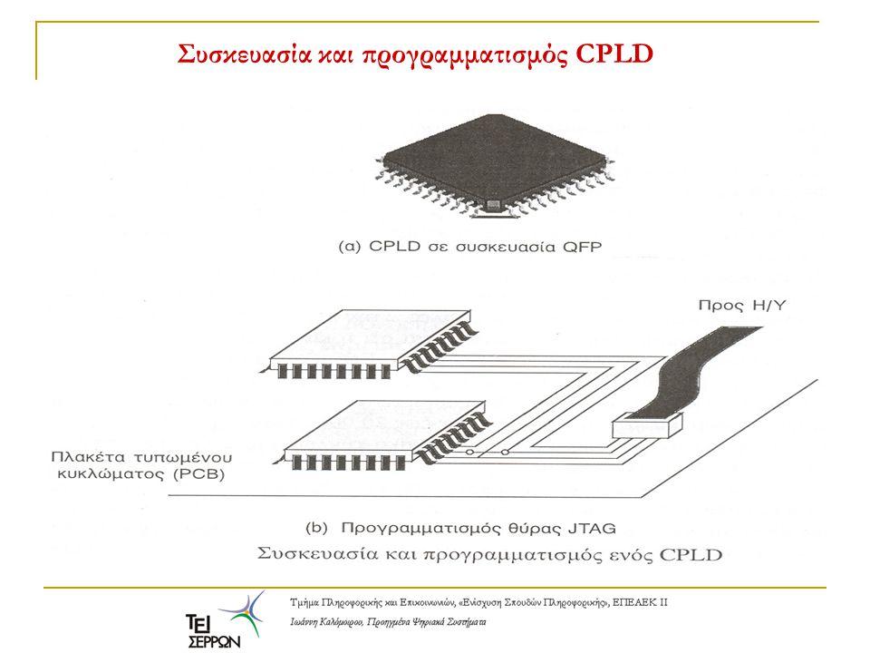 Συσκευασία και προγραμματισμός CPLD