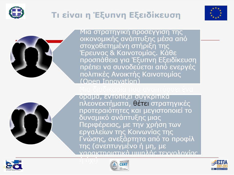 6 βήματα για την Έξυπνη Εξειδίκευση στην Δυτική Μακεδονία 1 Ανάλυση του δυναμικού της περιφέρειας αναζητώντας τα στοιχεία διαφοροποίησης που θα βασίζονται κυρίως στην καινοτομία.