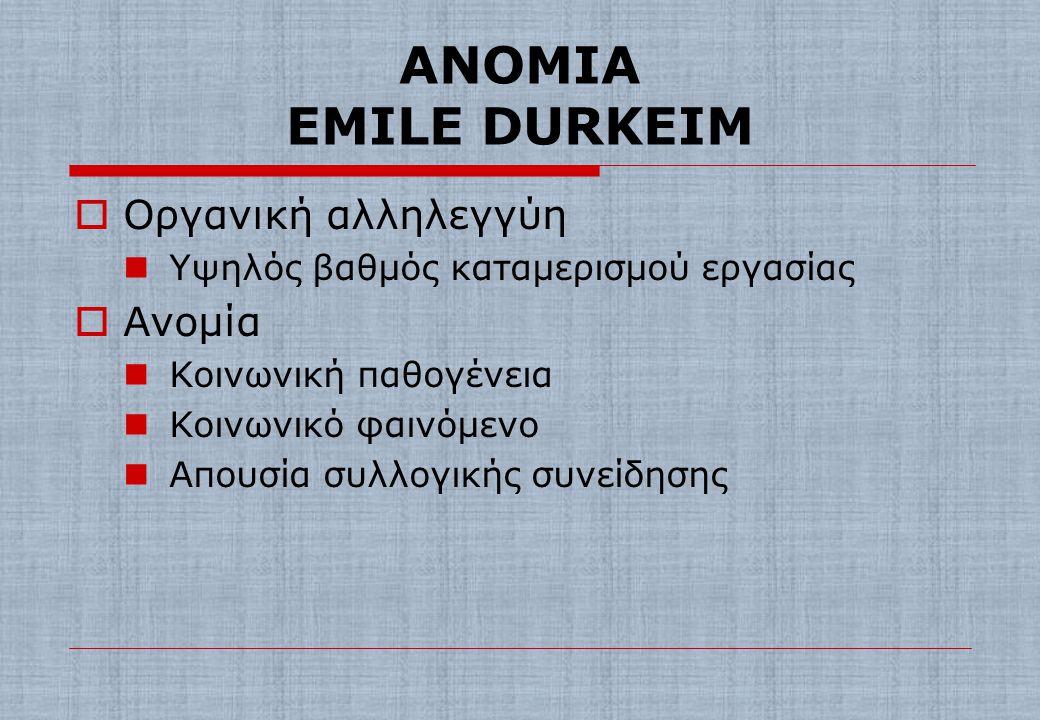 ΘΕΩΡΙΕΣ ΤΗΣ ΣΥΝΑΙΝΕΣΗΣ ΤΗΣ ΑΠΟΚΛΙΝΟΥΣΑΣ ΣΥΜΠΕΡΙΦΟΡΑΣ  Ανομία Durkheim Merton  Κοινωνική οικολογία
