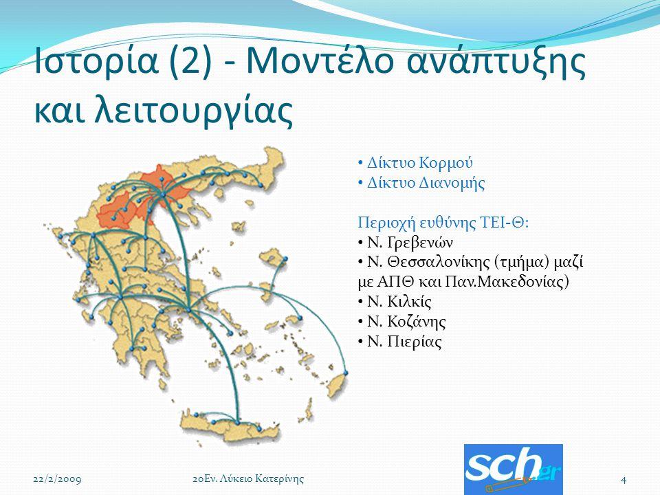 Ιστορία (2) - Μοντέλο ανάπτυξης και λειτουργίας 22/2/200942οΕν.