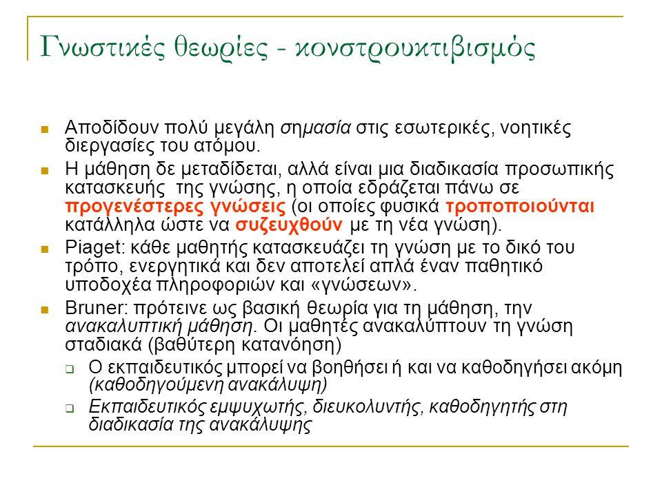 Vygotsky και εκπαίδευση 1) Πρέπει να δημιουργούνται συνθήκες συνεργατικής μάθησης ανάμεσα σε ομάδες ατόμων με διαφορετικά επίπεδα ικανότητας μέσα στην τάξη.