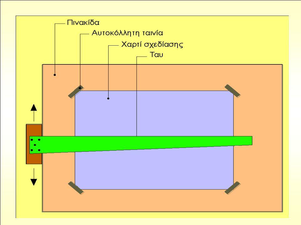 Τοποθέτηση φύλλου σχεδίασης στην πινακίδα