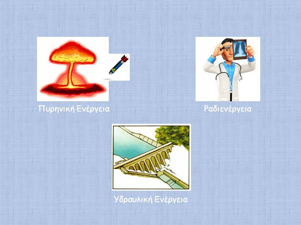 Πυρηνική Ενέργεια Υδραυλική Ενέργεια Ραδιενέργεια