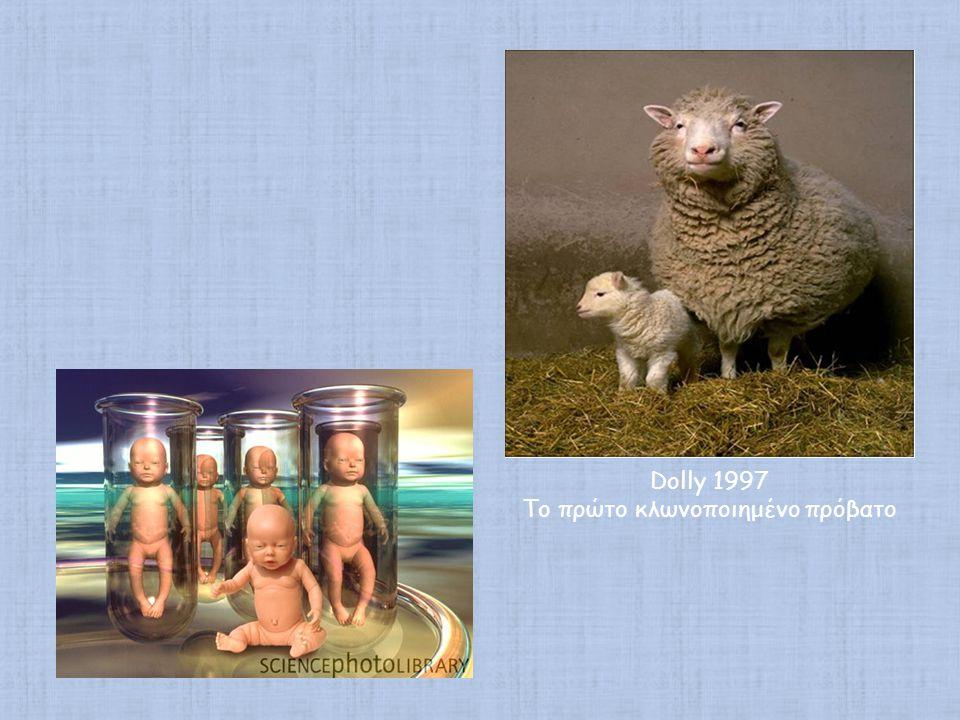 Dolly 1997 Το πρώτο κλωνοποιημένο πρόβατο
