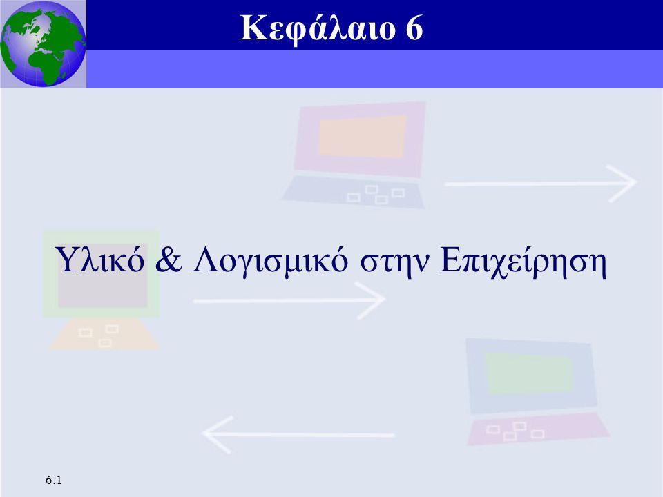 Κεφάλαιο 6 Υλικό και Λογισμικό στην Επιχείρηση 6.1 Υλικό & Λογισμικό στην Επιχείρηση Κεφάλαιο 6
