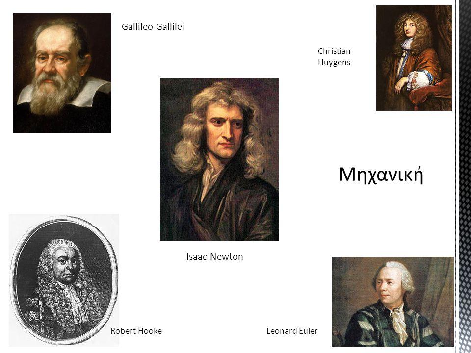 Gallileo Gallilei Christian Huygens Robert HookeLeonard Euler Isaac Newton