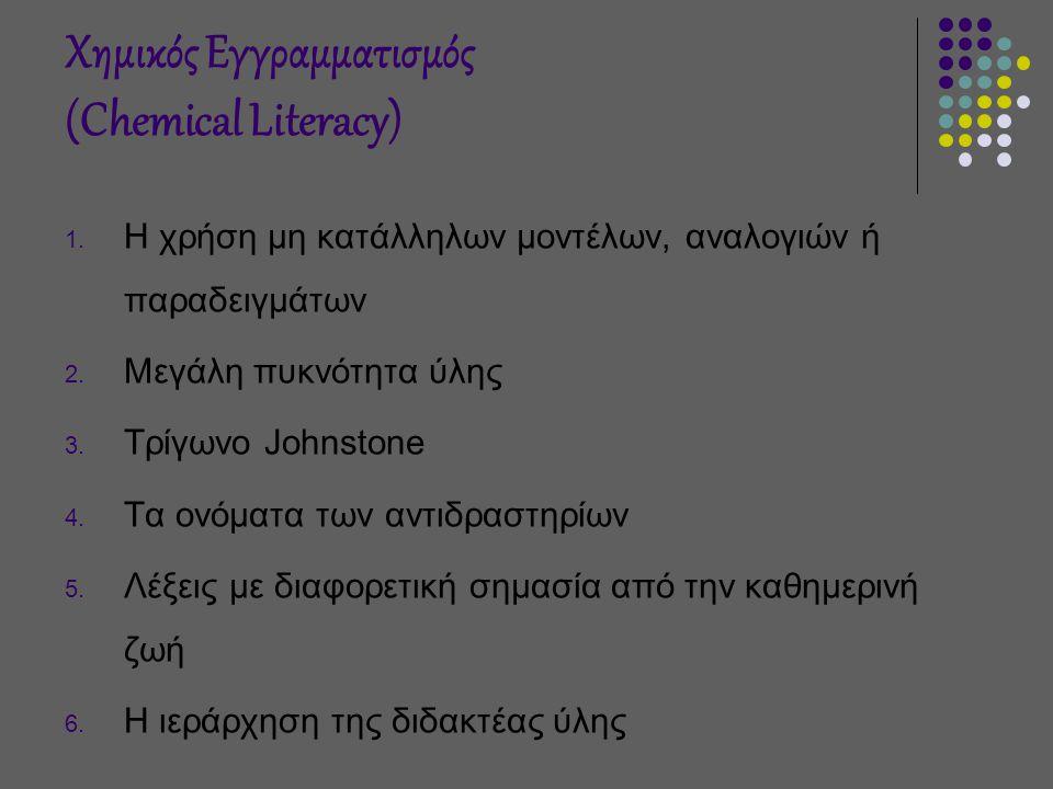 Χημικός Εγγραμματισμός (Chemical Literacy) 1.