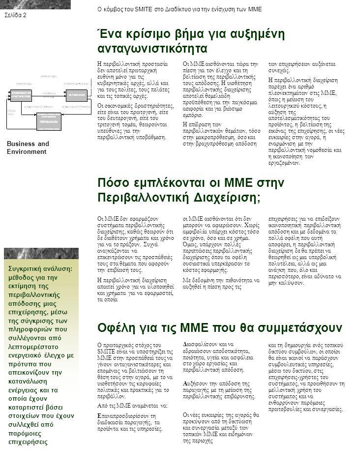 Πως θα λειτουργεί το σύστημα; Ο κόμβος του SMITE στο Διαδίκτυο για την ενίσχυση των ΜΜΕ Ενεργειακός έλεγχος: η συστηματική μελέτη της ποσότητας και του κόστους κάθε μορφής ενέργειας που απορροφάται από μια επιχείρηση για μια δεδομένη χρονική περίοδο.
