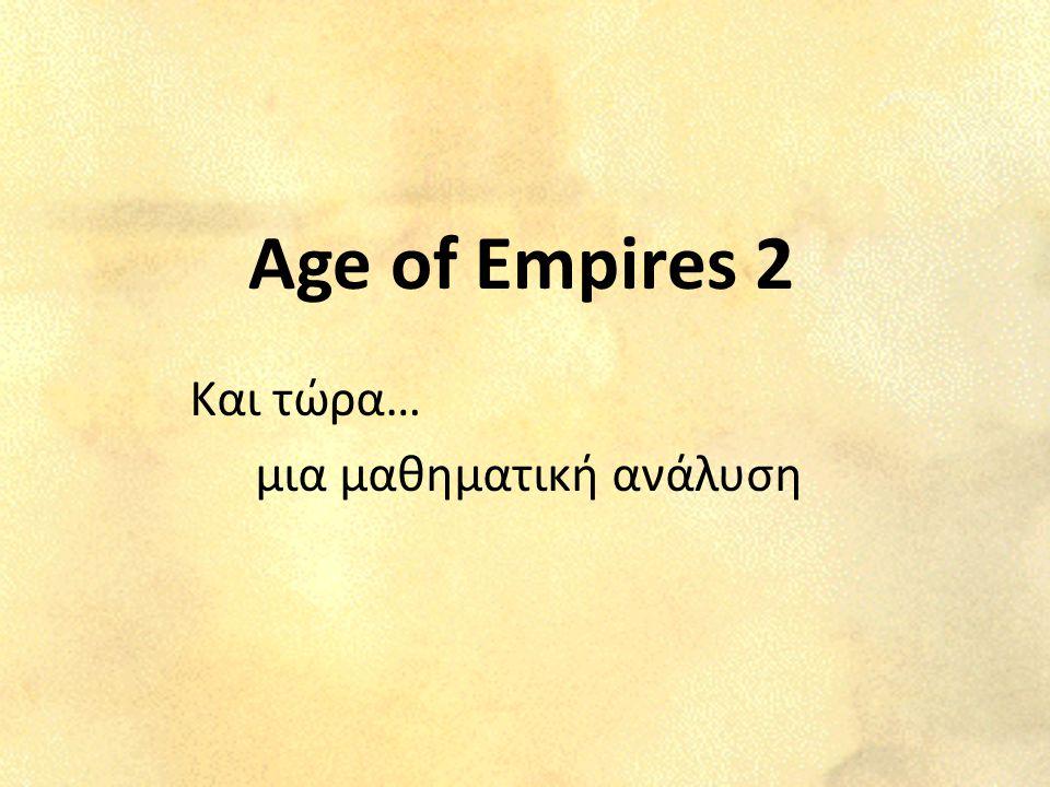 Age of Empires 2 Και τώρα… μια μαθηματική ανάλυση