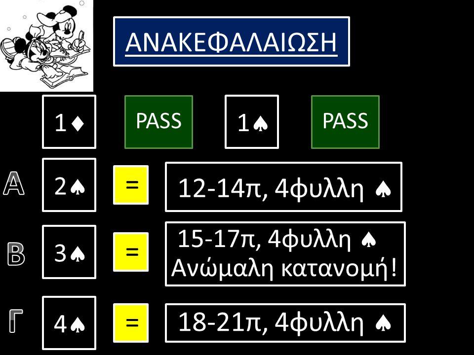 1  –(πάσο) – 1  – (πάσο) 2  –(πάσο) – Τι κάνουμε τώρα; Έχουμε 9 πόντους +1 λόγω του  xx.