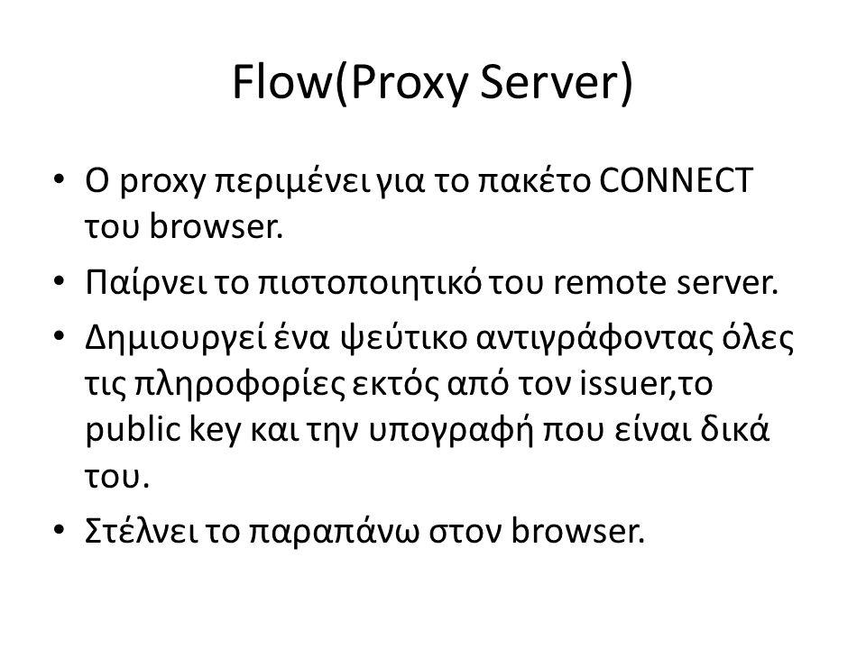 Flow(Proxy Server)