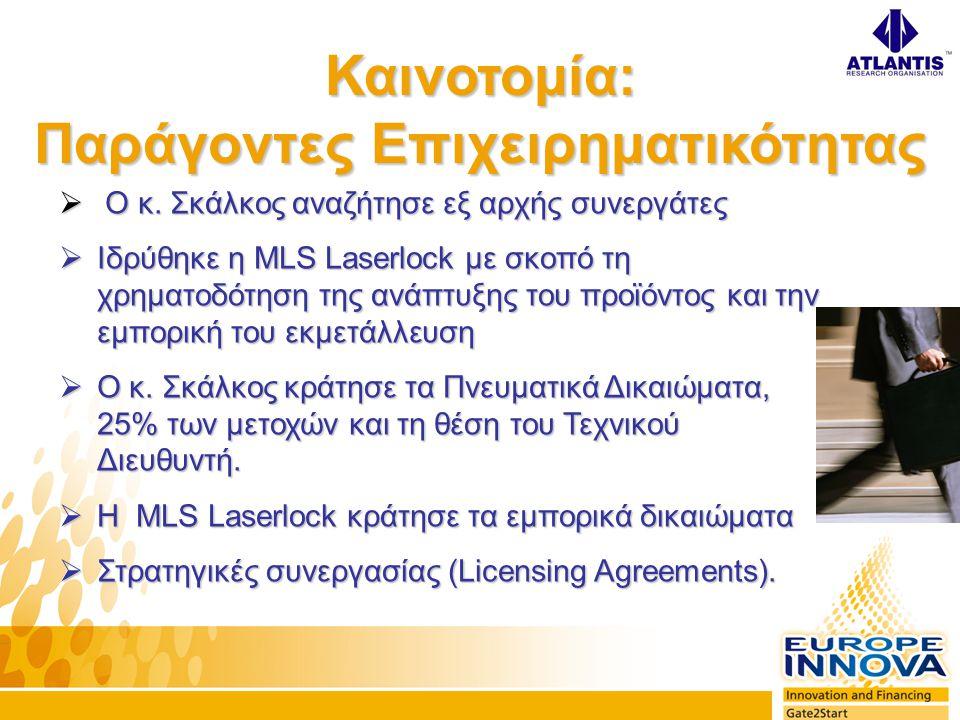  IST Grand Prize Winner 1998 (200.000€).Το πρώτο και μοναδικό για ελληνική επιχείρηση.
