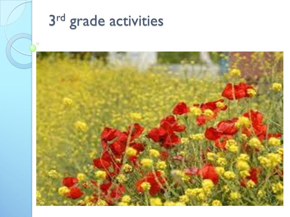 3 rd grade activities
