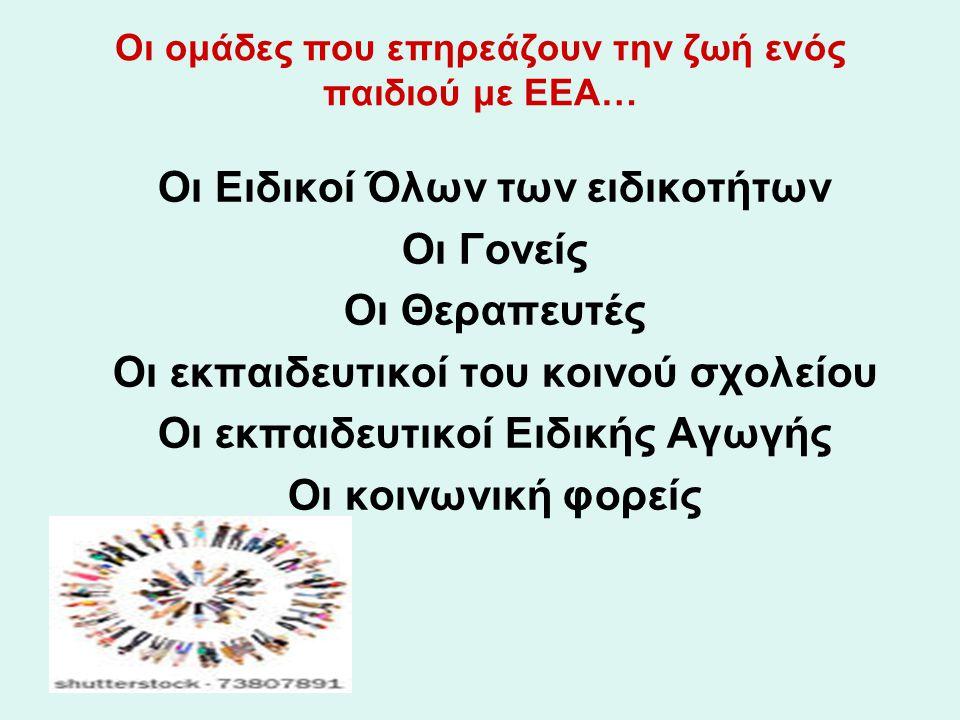 Οι οικογένεια του ατόμου με ΕΕΑ… Ένταξη στο οικογενειακό πλαίσιο Όροι και κανόνες συμπεριφοράς 7 συνεργασίας στην καθημερινότητα Μικρό- δουλείες και ευθύνες (με σεβασμό στις ικανότητες & δυσκολίες…)