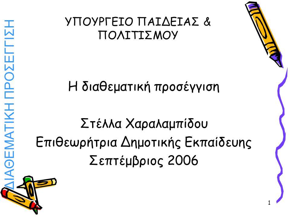 ΔΙΑΘΕΜΑΤΙΚΗ ΠΡΟΣΕΓΓΙΣΗ 42 ΤΕΧΝΗ Έφτιαξαν πυραμίδες Μεσογειακής διατροφής είτε ως τρισδιάστατες κατασκευές είτε ως αφίσες.