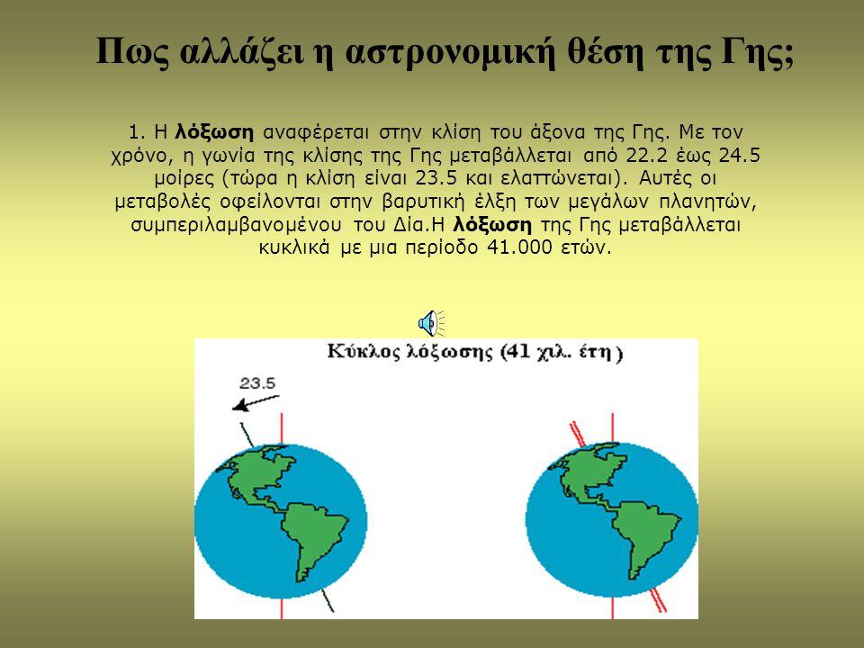 Ποιοι είναι οι ρυθμιστικοί παράγοντες του κλίματος πάνω στη Γη; Ο Ήλιος Η αστρονομική θέση της Γης Η εναλλαγή ξηράς - θάλασσας Οι εκρήξεις ηφαιστείων Οι δραστηριότητες του ανθρώπου