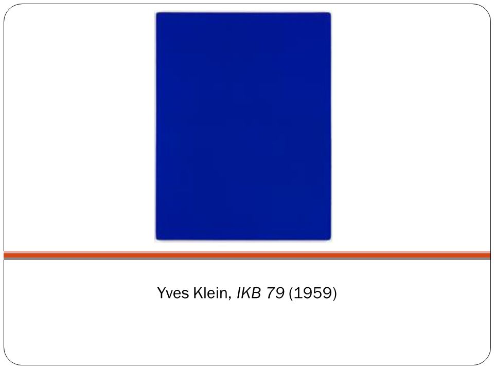 Yves Klein, IKB 79 (1959)