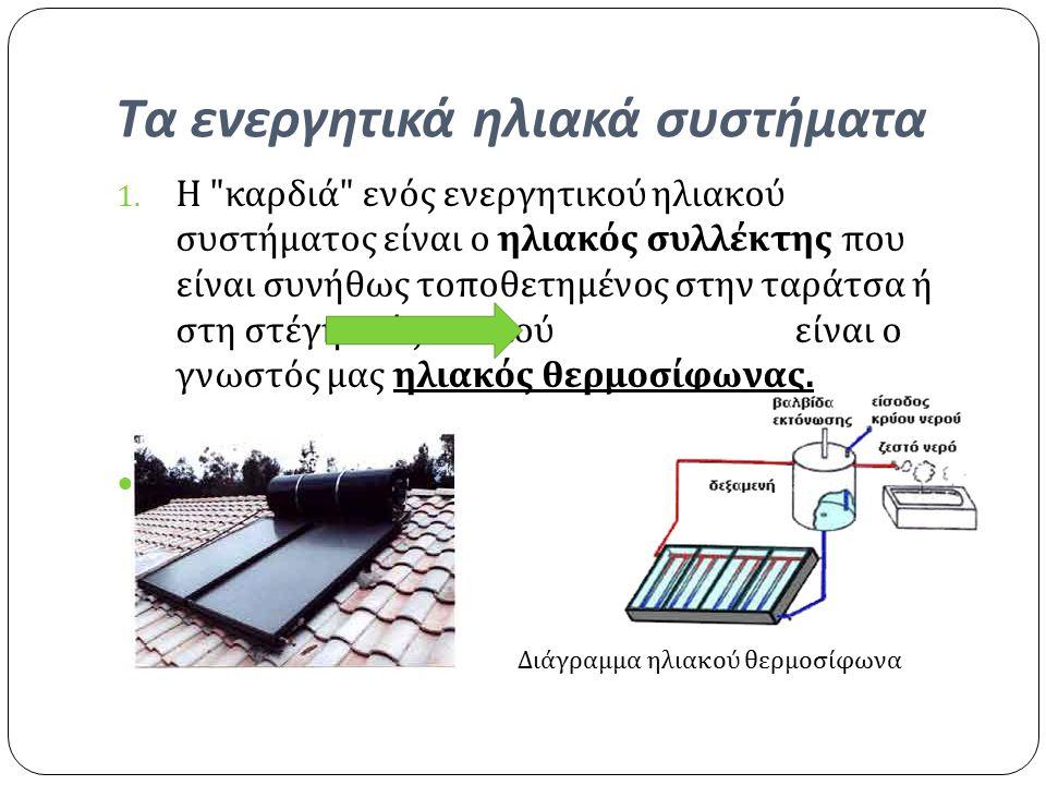 Τα ενεργητικά ηλιακά συστήματα 1.