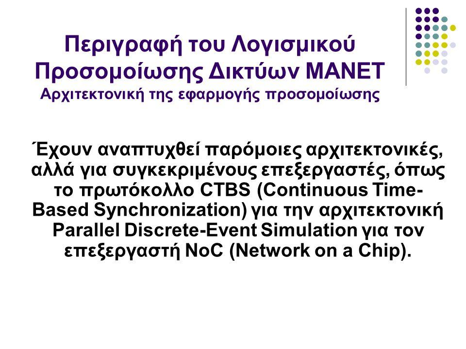 Έχουν αναπτυχθεί παρόμοιες αρχιτεκτονικές, αλλά για συγκεκριμένους επεξεργαστές, όπως το πρωτόκολλο CTBS (Continuous Time- Based Synchronization) για την αρχιτεκτονική Parallel Discrete-Event Simulation για τον επεξεργαστή NoC (Network on a Chip).