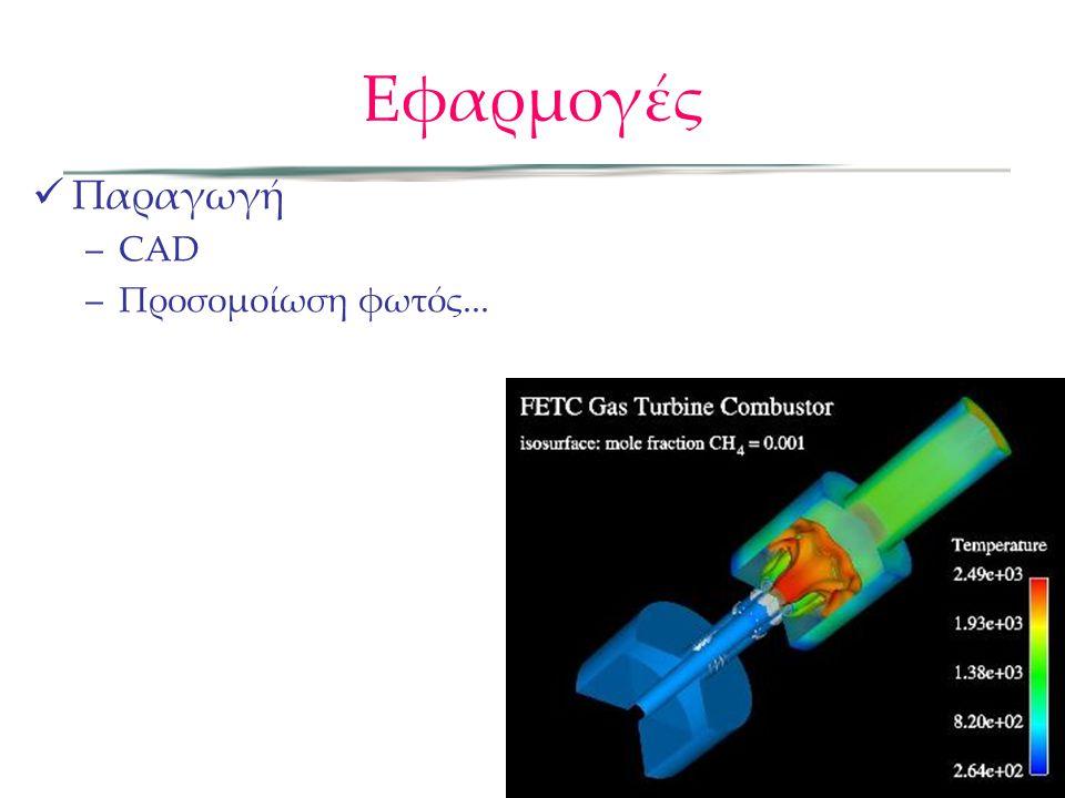 Εφαρμογές Παραγωγή –CAD –Προσομοίωση φωτός...