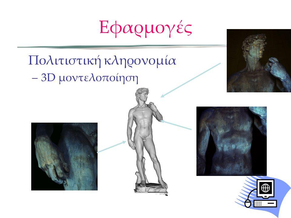 Εφαρμογές Πολιτιστική κληρονομία –3D μοντελοποίηση