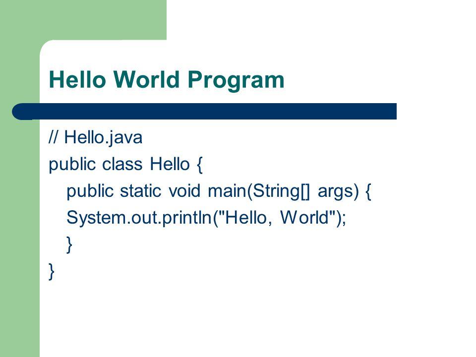 Εφαρμογές Java Applets – Είναι προγράμματα που ενσωματώνονται σε άλλες εφαρμογές τυπικά σε μία ιστοσελίδα και εμφανίζονται σε έναν Web Browser Servlet – Δίνει σε Web Developers ένα απλό μηχανισμό για την λειτουργία ενός Web Server JavaServer Page (JSPs) – Οι JSP επιτρέπουν την εύκολη μίξη κώδικα HTML και κώδικα Java στην ίδια σελίδα Swing application – Είναι μια GUI βιβλιοθήκη για την Java SE